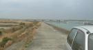 三河湾大橋・豊橋側の堤防ドライブ